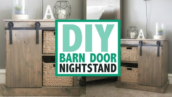 How to Make a Charmingly Rustic DIY Barn Door Nightstand {Free Plans}
