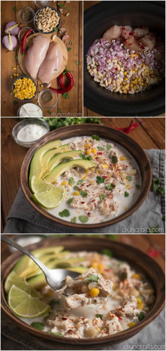 Creamy White Chicken Chili Is The Perfect Slow Cooker Meal For Busy Nights #recipe #chili #chicken #slowcooker #crockpot