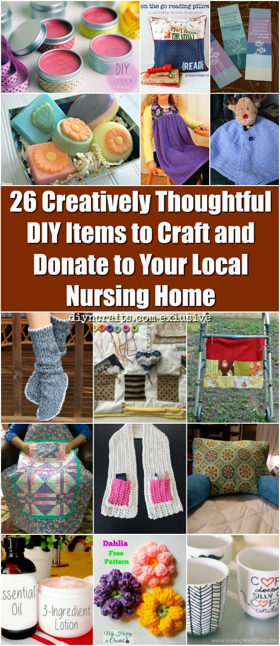 26 creatively thoughtful diy items to craft and donate to your nursing home crafts pg negle Gallery