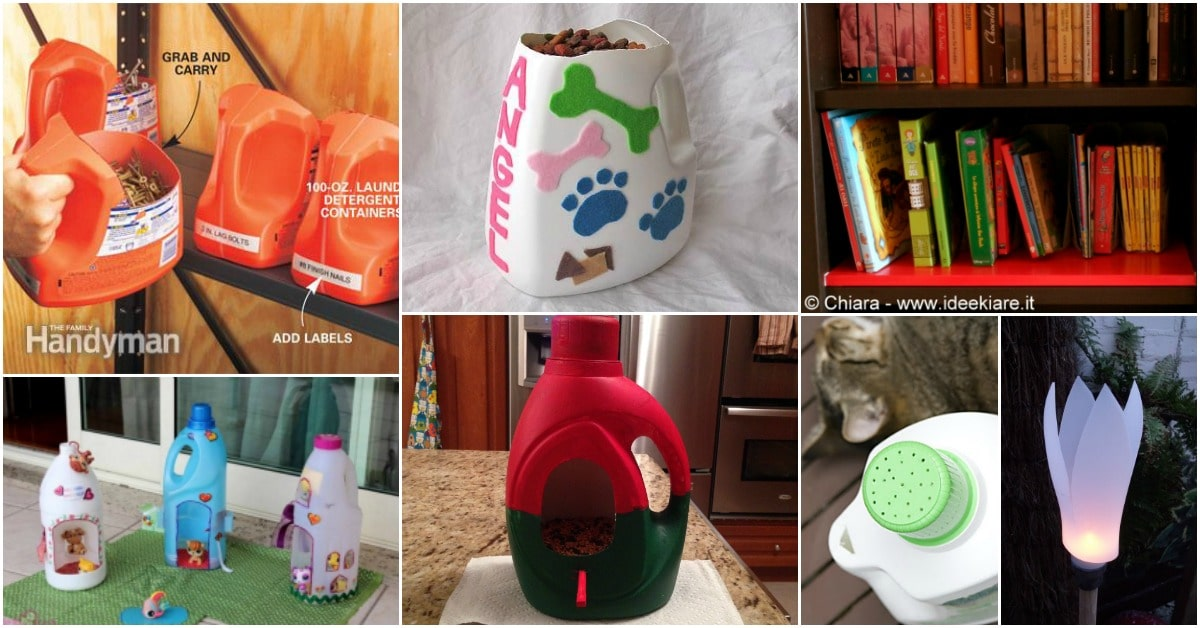 25 Fun And Creative Ways To Upcycle Empty Laundry Detergent Bottles   DIY U0026  Crafts