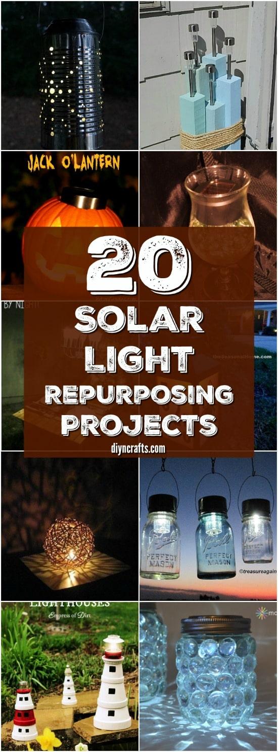20 solar light repurposing ideas to brighten up your outdoors diy 20 solar light repurposing ideas to brighten up your outdoors solutioingenieria Gallery