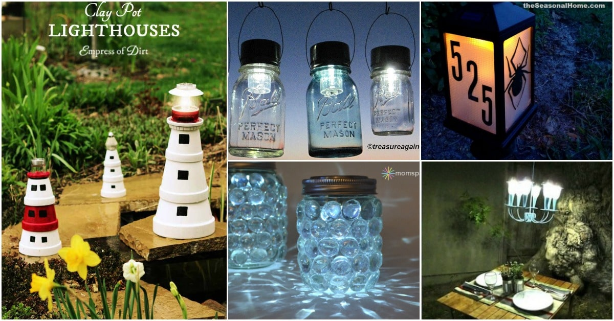 20 Solar Light Repurposing Ideas To Brighten Up Your