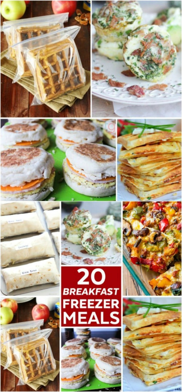 20 Delicious Breakfast Freezer Meals
