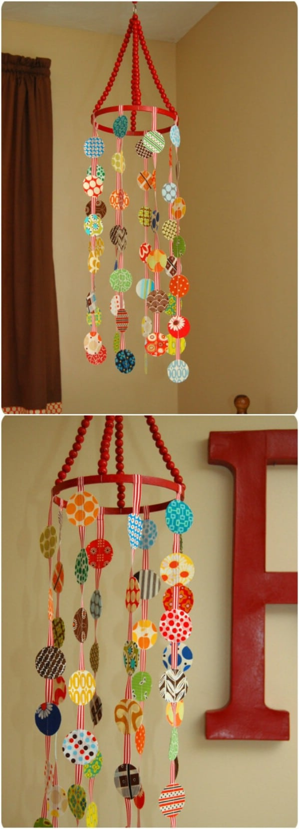 DIY Repurposed Sheet Crib Mobile
