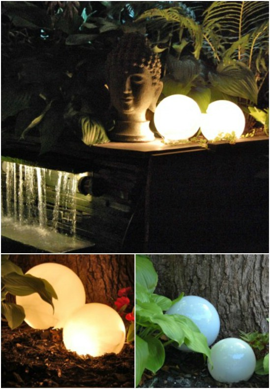 DIY Glowing Garden Light Orbs