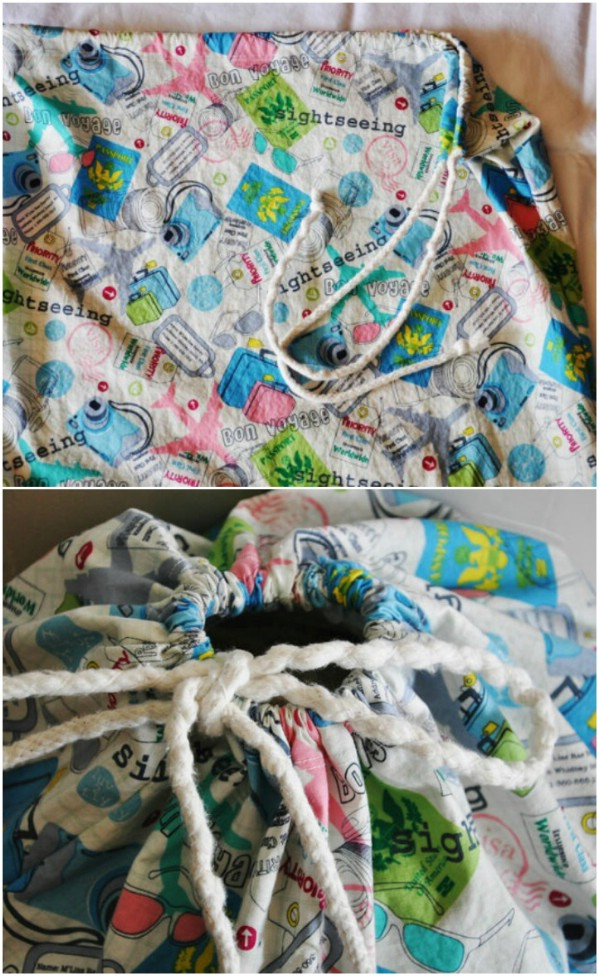 Simple And Quick DIY Laundry Bag