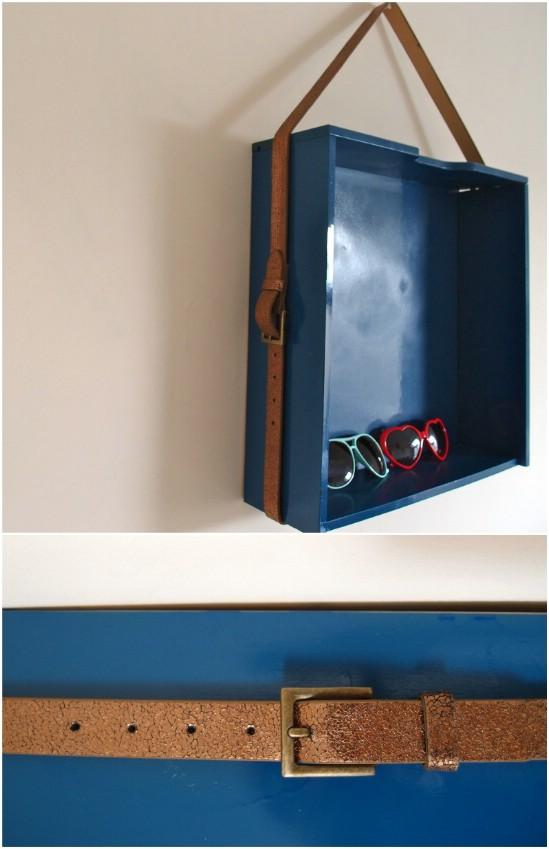 DIY Leather Display Shelf Hanger