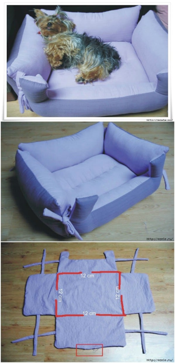 Diy Dog Bed Part - 18: Pillow Bench DIY Pet Bed