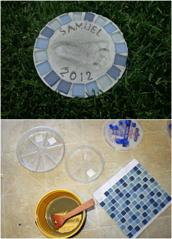 DIY Personalized Stepping Stones
