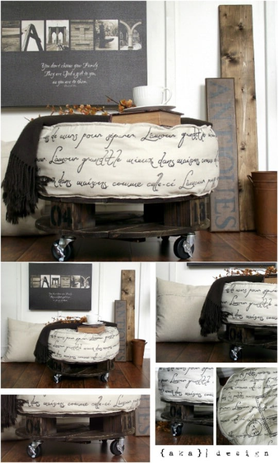 Easy DIY French Provincial Ottoman