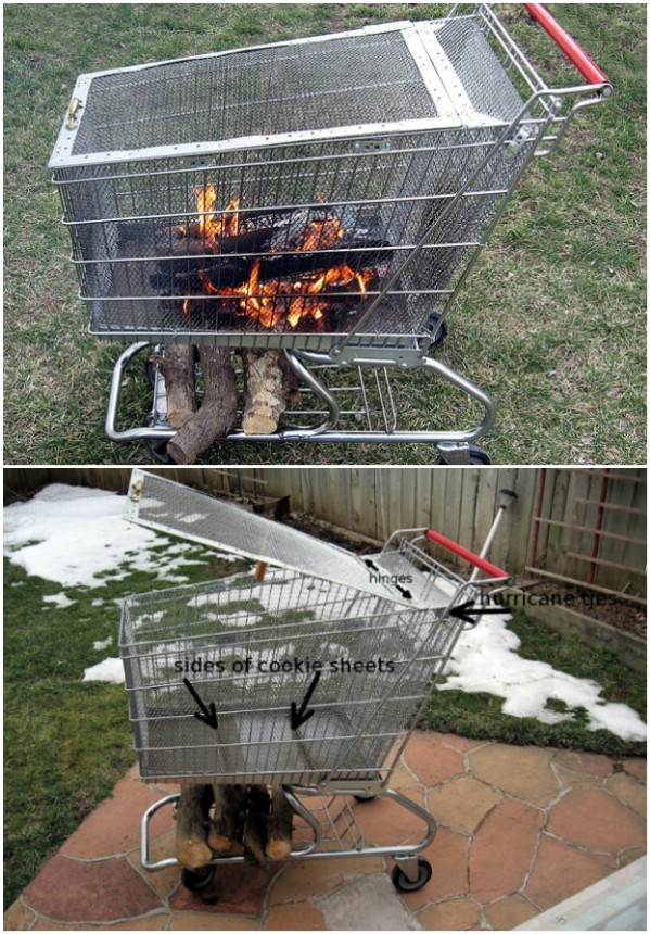 Shopping Cart Fire Pit