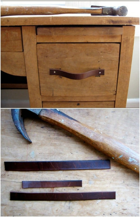 DIY Leather Drawer Pulls