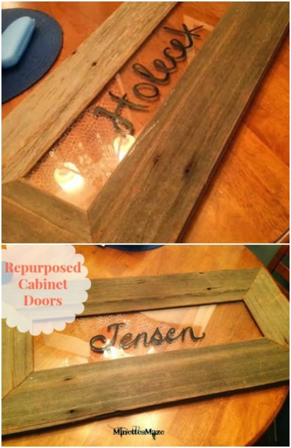 Rustic Wall Décor From Old Cabinet Doors & 25 DIY Projects Made From Old Cabinet Doors u2013 Itu0027s Time To Repurpose ...