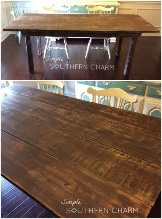 diy 2x4 farmhouse kitchen table 50 diy home decor and furniture projects you can make from 2x4s      rh   diyncrafts com