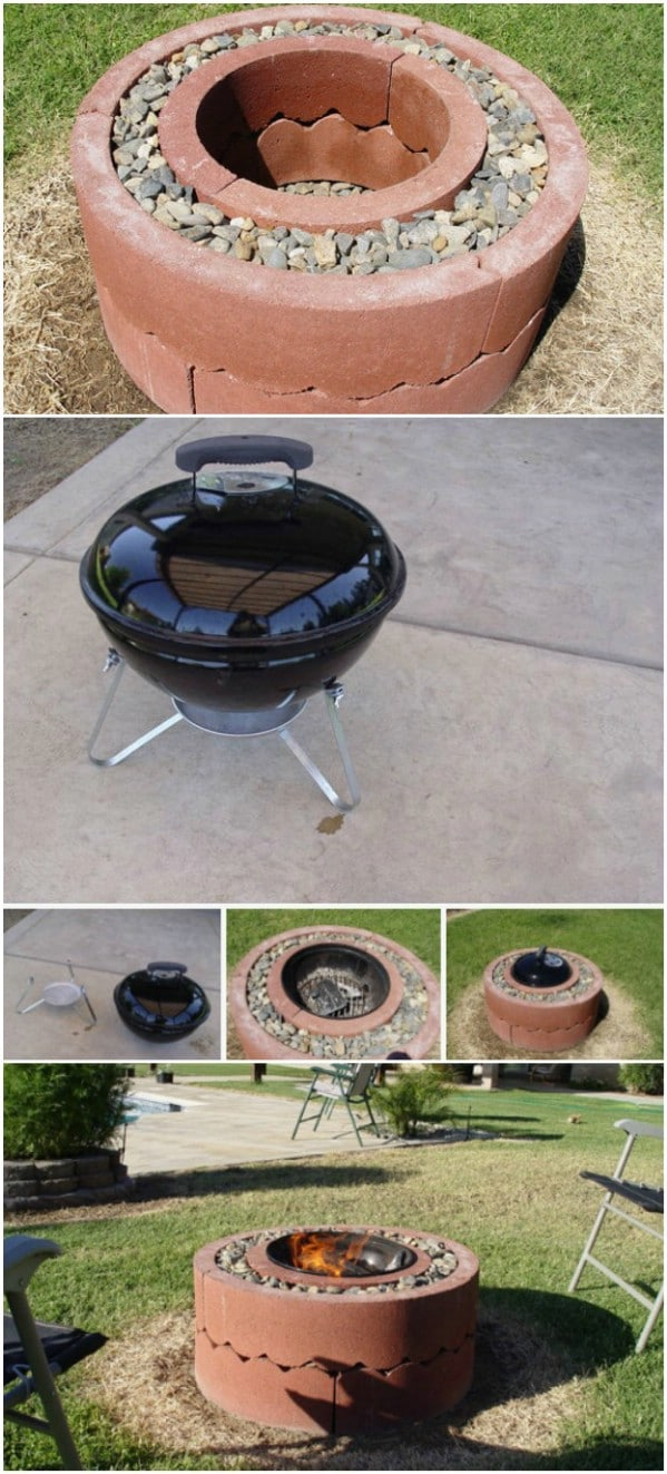 DIY Fire Pit From Tree Rings