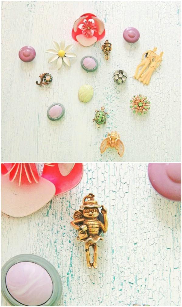 Repurposed Vintage Jewelry Magnets