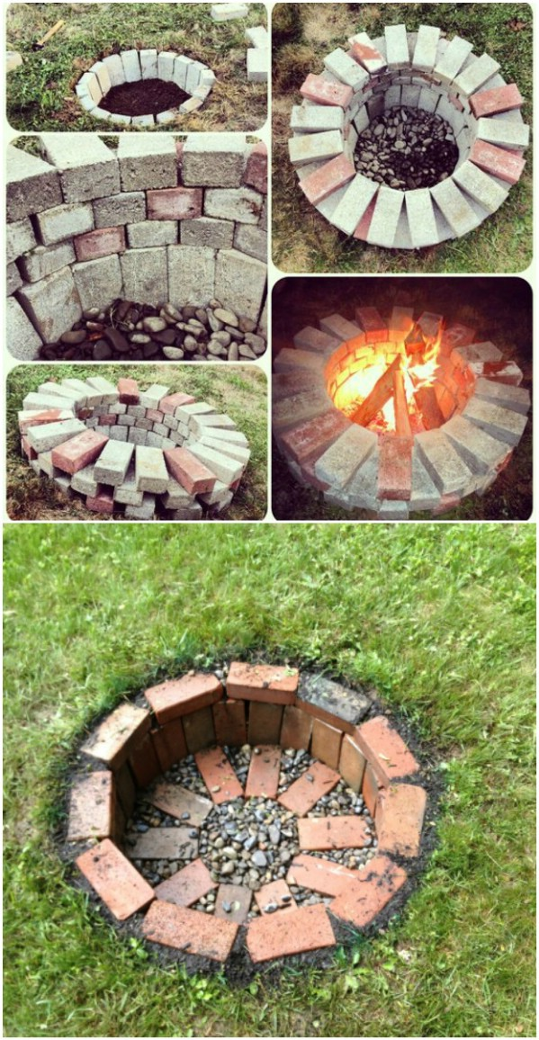 Brick Fire Pit : Brilliantly easy diy fire pits to enhance your outdoors