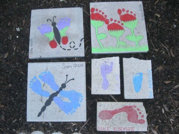 Whimsical DIY Footprint Stepping Stones