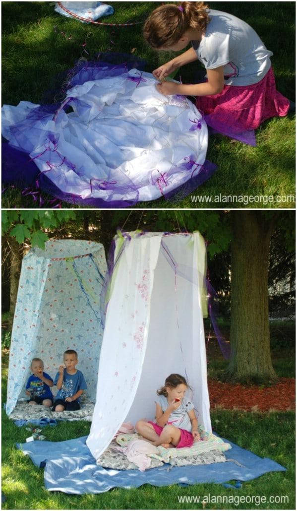 Fun Outdoor DIY Tents
