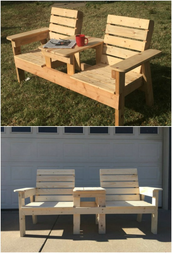 Reclaimed Pallet Double Chair