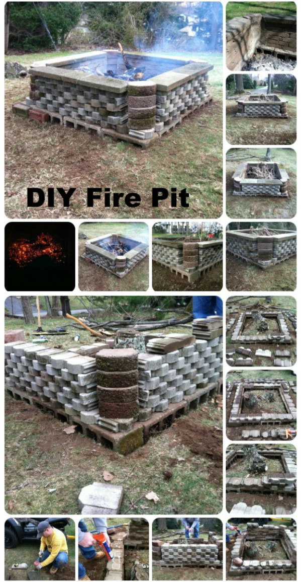 Large Squared Fire Pit