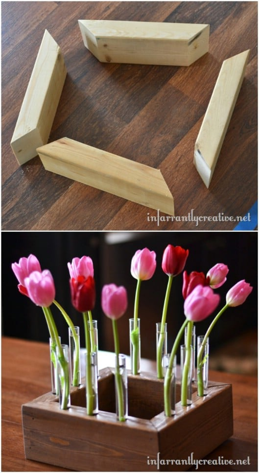 Wooden Floral Centerpiece