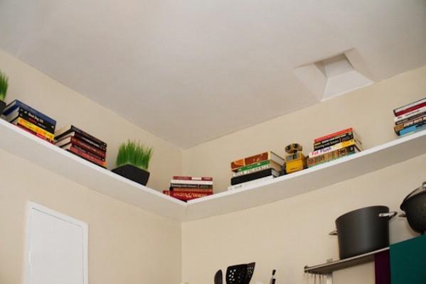 Add Shelves Along The Ceiling