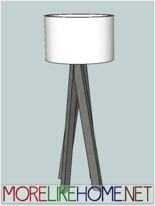 DIY Funky Modern Lamp