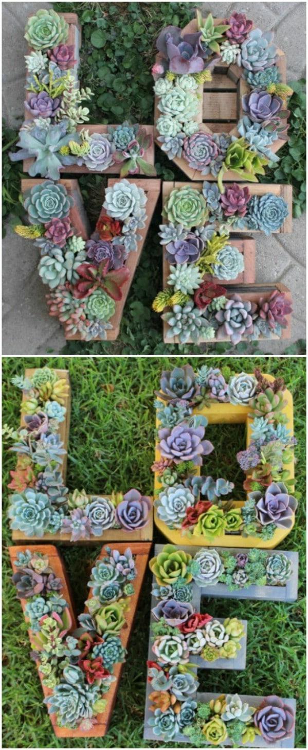 Monogrammed Succulent Planters
