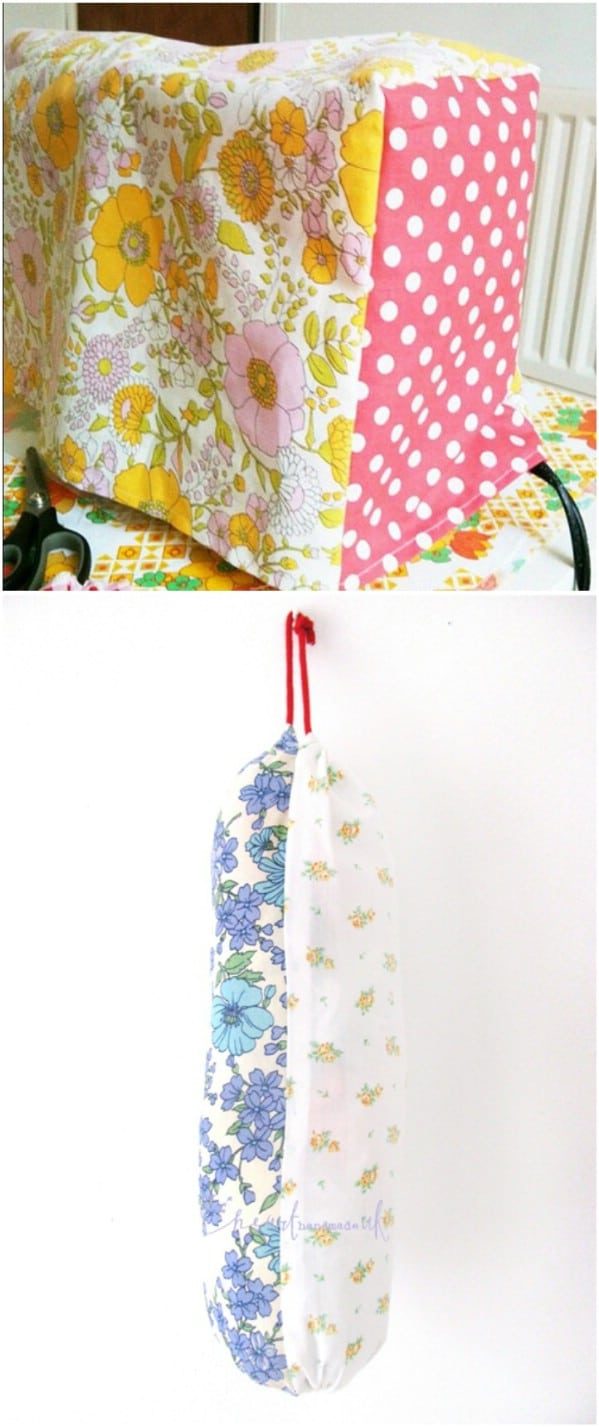 DIY Plastic Bag Holder From Sheets