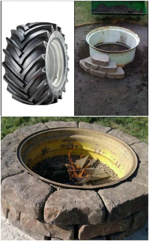 Tractor Tire Rim Backyard Pit