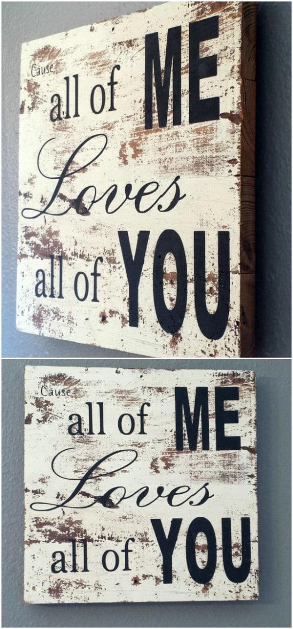 John Legend Inspired Wood Sign
