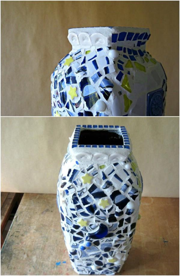 Repurposed China Covered Vase