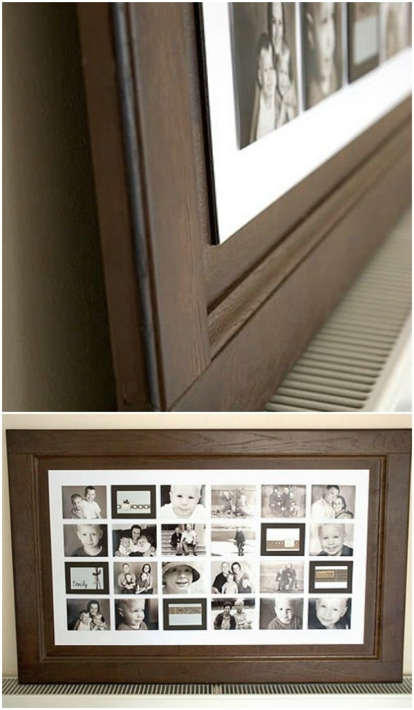 Repurposed Door Photo Collage