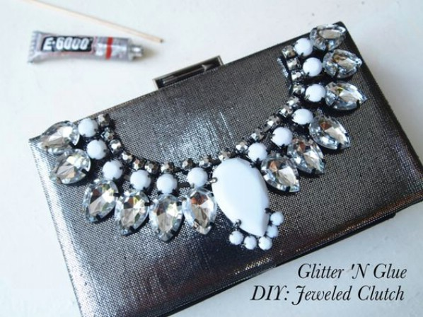 Easy DIY Jeweled Purse