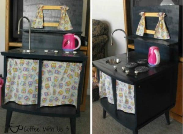 Nightstand Repurposed Into Kitchen