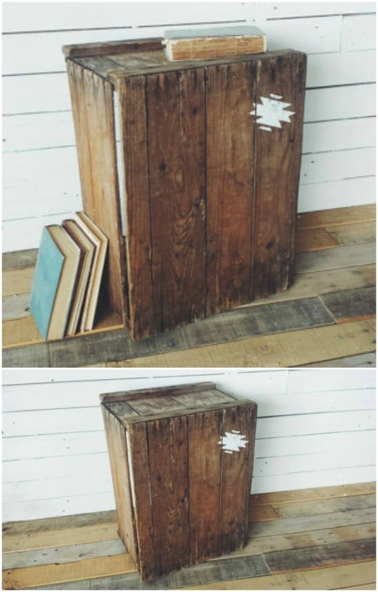 Repurposed Crate Side Table