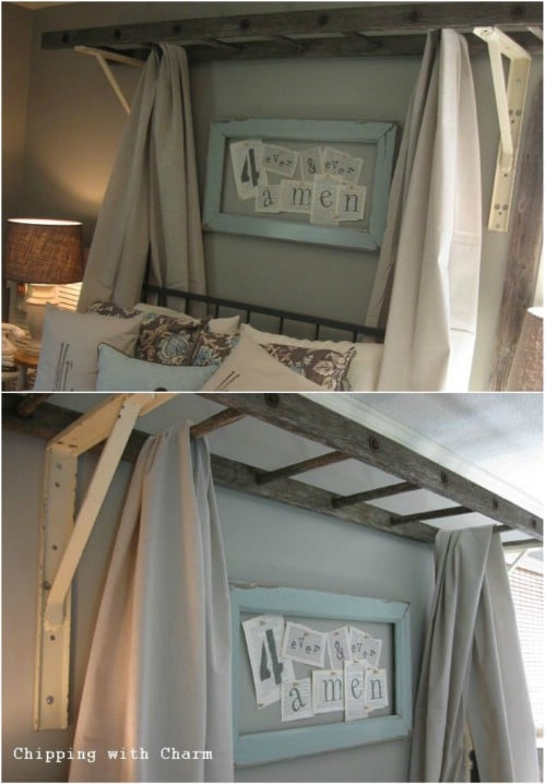 DIY Rustic Bed Canopy