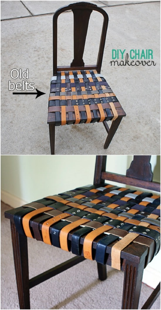DIY Belted Chair