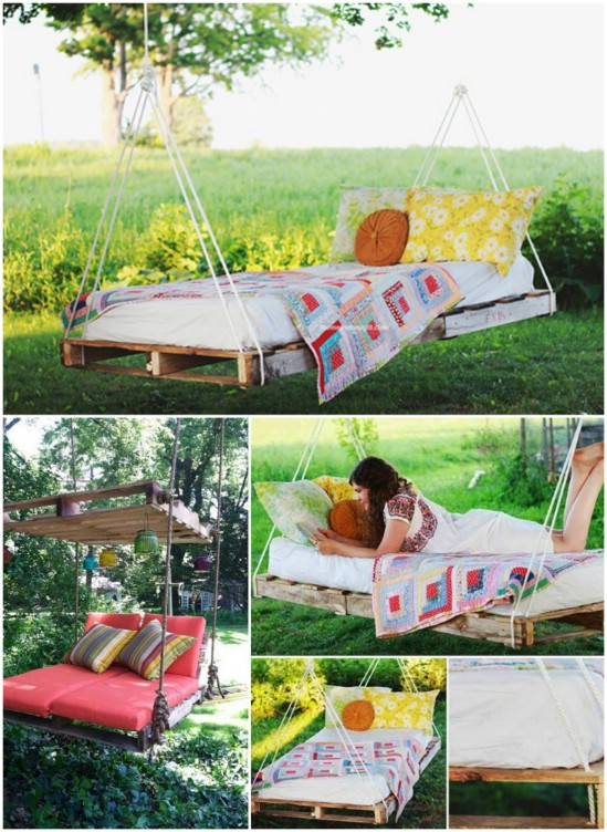 Easy Backyard Hanging Lounger