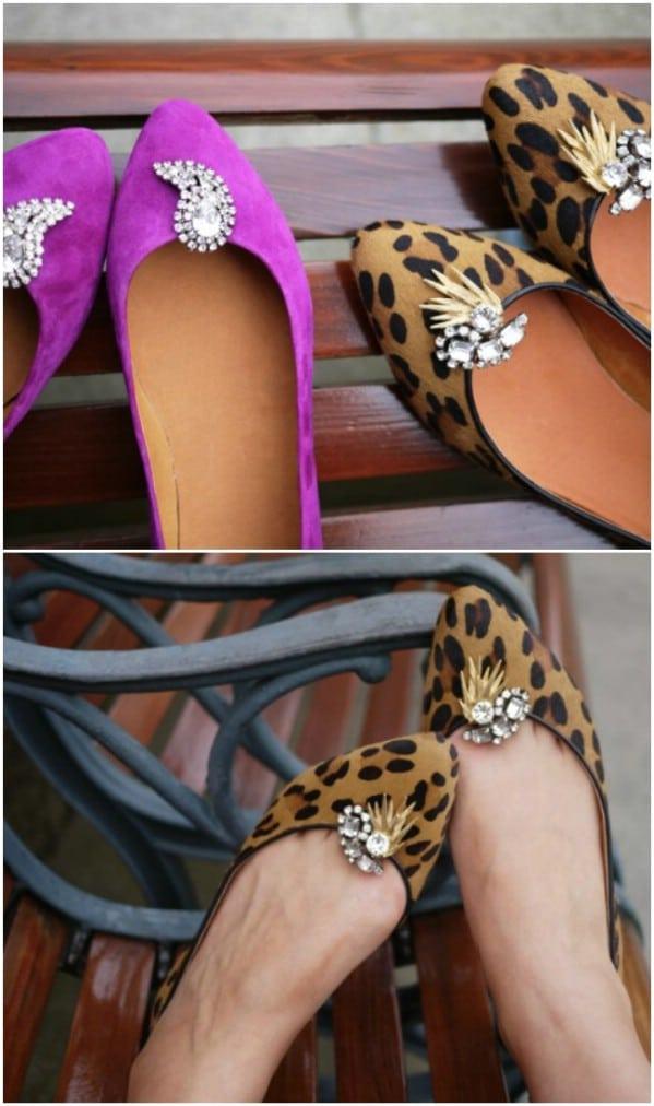 Repurposed Costume Jewelry Shoe Clips