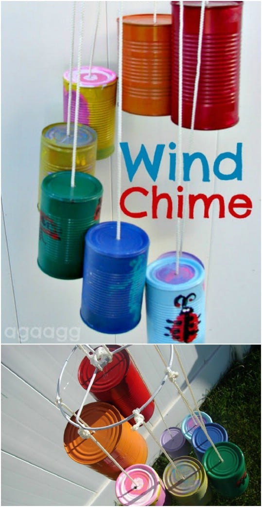 Upcycled Tin Can Wind Chime
