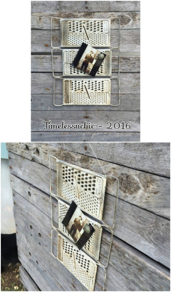 Repurposed Cheese Grater Message Board