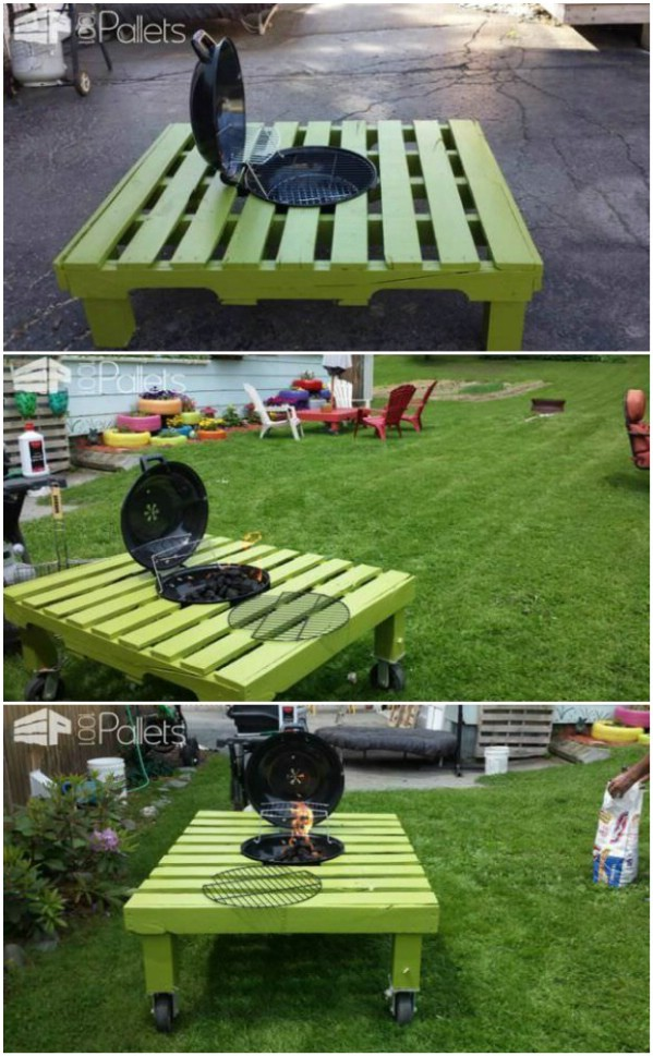 Upcycled Pallet Fire Pit Table
