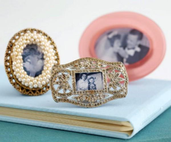 Small DIY Jeweled Frames