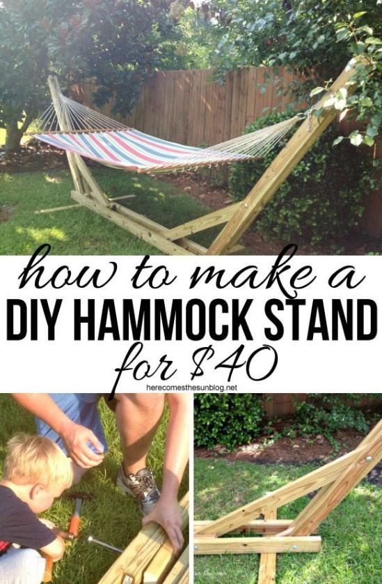 $40 DIY Hammock Stand