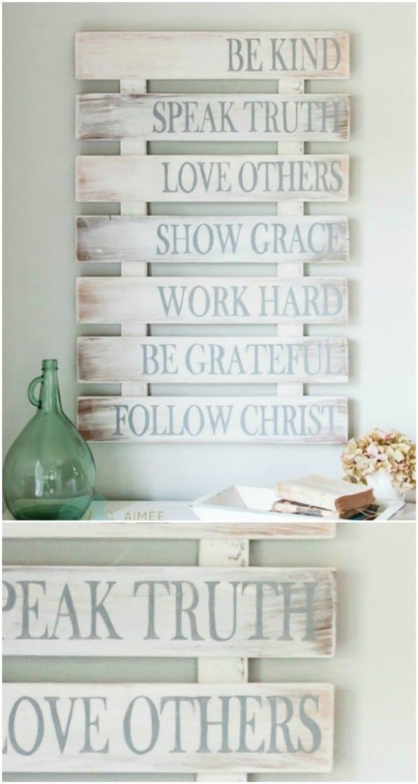 Rustic Charm Home Decor:15 DIY Wood Sign Ideas - Style Motivation