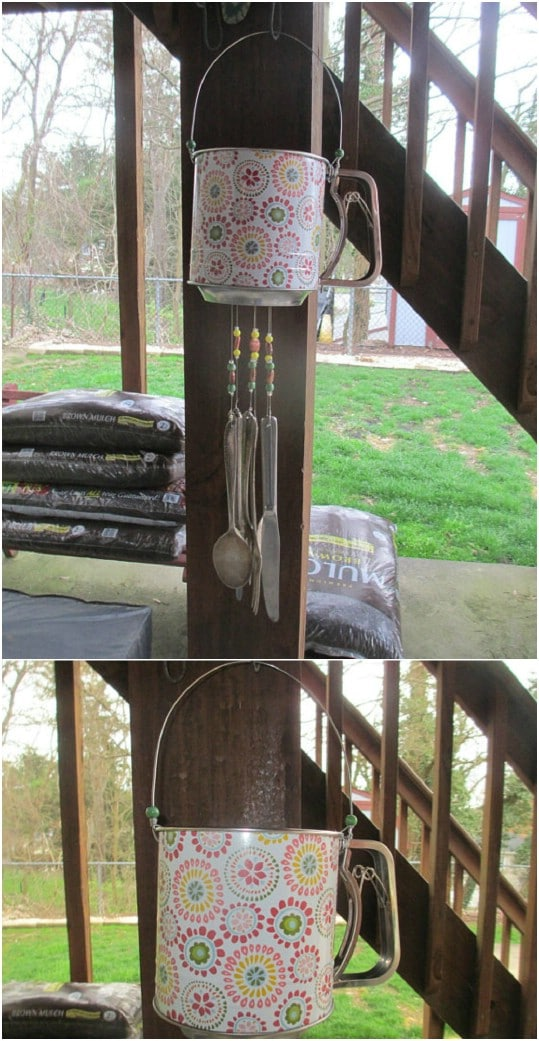 Recycled Flour Sifter Wind Chime