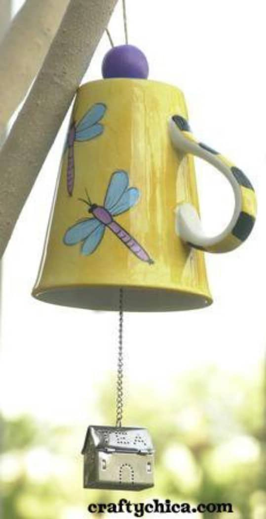 Vintage Teacup Wind Chime