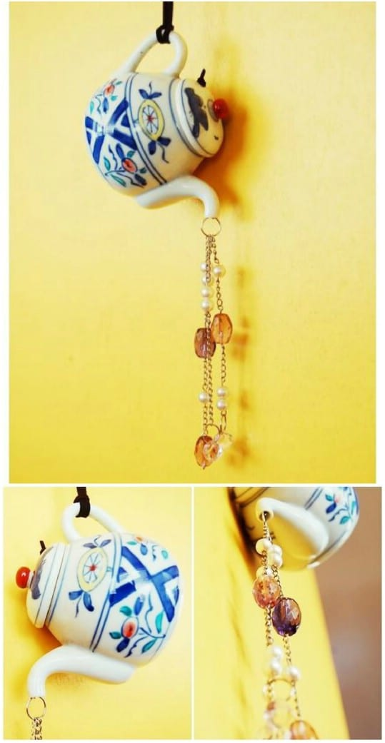 DIY Ceramic Tea Pot Wind Chime